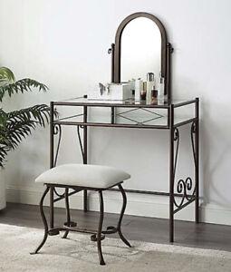 mirror makeup vanity table set