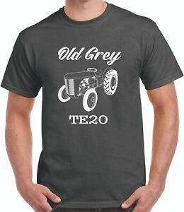 Old Grey  Fergie Tractor Tee Shirt T20