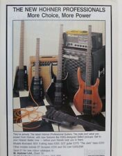 retro magazine advert 1987 HOHNER GUITARS / MESA BOOGIE