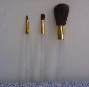ESTEE LAUDER 3 pcs Makeup Brush Set, Powder + EyeShadow + Liner brush, Brand NEW