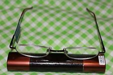 MAGNIVISION READERS  BY FOSTER GRANT(COPPER)+2.50 TUBE CASE INCLUDED
