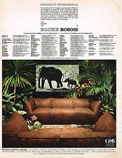 PUBLICITE  1973     ROCHE BOBOIS   salon le buffalo