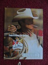 MARLBORO Man Cigarettes ~ Western Cowboy Magazine Print Ad White Hat Saddle