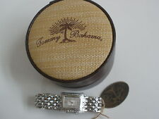TOMMY BAHAMA SILVER DIAMOND WATCH ORIG. $495  NEW SALE