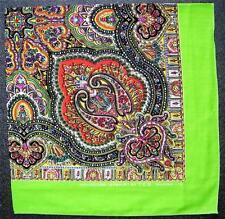 Green Paisley estilo Pañuelo Cabeza Bufanda Pañuelo De Varios Colores Bufanda De Cuello