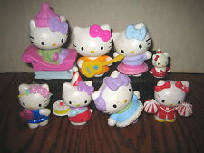 "8 RARE HTF HELLO KITTY COLLECTABLE FIGURE'S  LOT , "" SOLD AS IS """