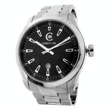 CERRUTI MENS TRADIZIONE SWISS MADE WATCH NEW BLACK SS