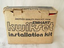 Kwikset Installation Kit 136 Emhart Hardware Door Lock