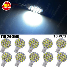10pcs T10 194 W5W 24 1210 SMD LED Cool White Landscaping Light Lamp Bulbs