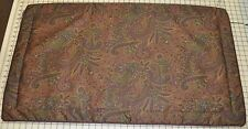 Corded King Sham made w Ralph Lauren Bohemian Burgundy Purple Paisley Fabric