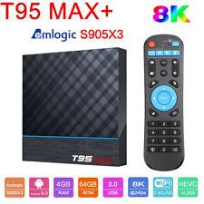 T95 MAX+ 8K TV BOX 4GB 64GB S905X3 2.4G/5G WiFi 3D BT4.0 Smart Android9.0 Player