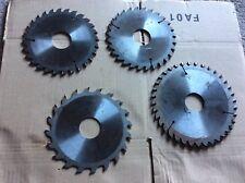 Lot 4 lames de scie circulaire machine à bois (1)