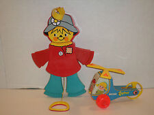 Vintage Lot Of 2 Fisher Price Toys A Mini Copter And Jumping Jack Scarecrow Cool