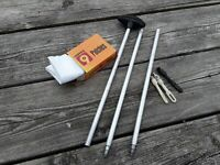 Gun Cleaning Rod With Assorted Parts. 12 Guage. Hunting. Camping. Fishing