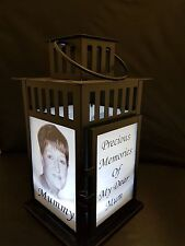 Personalised Photo Lantern Memorial Wedding Birthday Valentines Gift Tribute