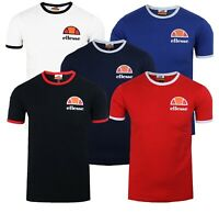 ellesse Classic Algila Crew Neck Ringer T-Shirt Retro Sports Top Casual Tee