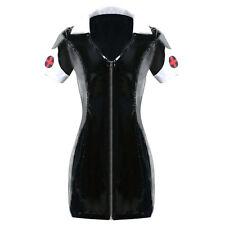 Top Totty Sexy Black PVC Nurse Fancy Dress Costume