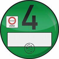 1x Haftfolie Plakette Euro 4 Umweltplakette Feinstaubplakette Spassplakette 1