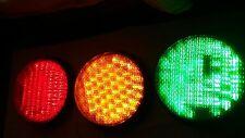 """SET OF WORKING GE 12"""" LED TRAFFIC LIGHT SIGNALS 120V"""