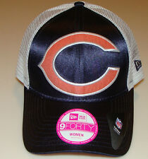 New Era Hat Cap Chicago Bears 9Forty Satin Chic Ladies Women Adjustable OSFM