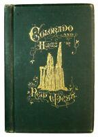 1880 COLORADO & NEW WEST ARIZONA UTAH NEW MEXICO MINING EMIGRANT INDIANS MAPS