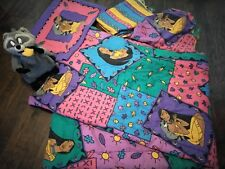 90s Disney Pocahontas Twin Comforter Set Sheets Pillowcase Bedding meeko plush