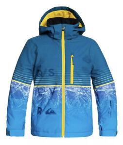 Quiksilver Boys Silvertip Snow Jacket, Lyon Blue Benzal Youth, 12/ Large
