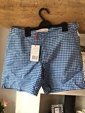 "New listing Orlebar Brown Men's Swim Shorts ""Bulldog""Gingham Heron/Powder Blue size 30"" BNWT"