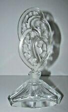 """Desna Czech Art Deco Style Perfume Bottle Bell Flower Stopper 8.25"""" Tall 382"""
