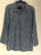 Bench Size L Long Sleeved 100% Cotton Shirt Denim New