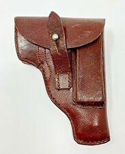 Ww1 Ww2 1915 German Brown Leather Holster Steyr 7.65mm Wunderlich Berlin Named