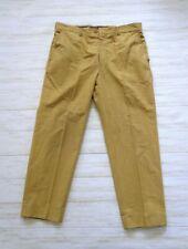 Golden Plaid Flat Front Vintage 1960's Men's Koratron Slacks Pants 36 x 26