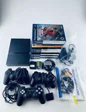 Sony PlayStation 2 Slim + 3 Controller + 12 Spiele + 4 Memory Cards - TOP + OVP