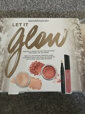 Bare Minerals Let It Glow 4 Piece Collection With Bag Brand New