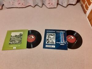 "2 George Beverly Shea 10"" vinyl LPs Evening Vespers Garden of Prayer HMV Gospel"