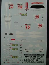 DECALS 1/43 MASERATI SPA24 #15 FIA GT 2008   - COLORADO  43195