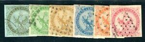FRANZÖSISCHE KOLONIEN 1859 1-6 gestempelt TADELLOS SATZ 160€(F4292