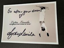 Lydia Miller medalla 2010 ski freestyle signed foto 10x14 autógrafo