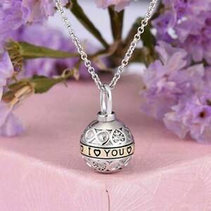 Cremation Urn Necklace Keepsake Pendant for Ashes Round Tribal Ball Sphere