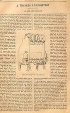 SOIE ARTIFICIELLE SILK ALGERIE EXPOSITION INTERNATIONALE WORLD FAIR ADP 1888