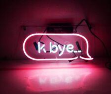 "14""x6"" K-BYE "" Pink Neon Light Sign Club Room Decor Handcraft Lamp Art Poster"
