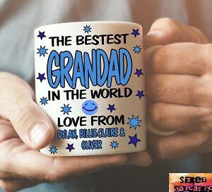 Personalised Best Grandad Cup Mug Gift Novelty Birthday Christmas Present