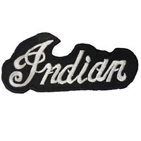 Indian Black - Embroidered Motorcycle/Biker Patch