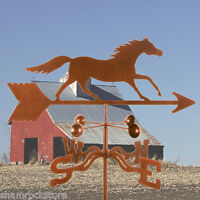 Antique Look Traditional Running Horse Weathervane, Weather Vane with Roof Mount