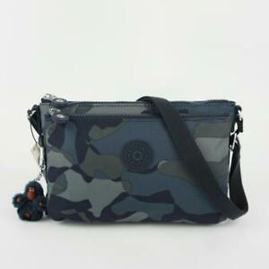KIPLING MIKAELA Nylon Travel Shoulder Crossbody Bag Cool Camo