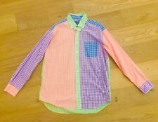 Vineyard Vines Men's Multi Color Large Patchwork Print Button Down Tucker Shirt