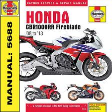 Honda Cbr1000rr Cbr1000 Fireblade 2008 - 2013 Haynes Manual 5688 Nuevo