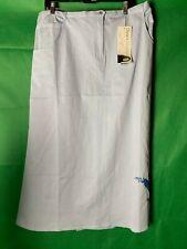 Size 2X Diane's Butterfly Blue Jean Skirt Womens Plus Wearable Art Embroidery