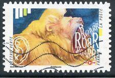 TIMBRE FRANCE  AUTOADHESIF OBLITERE N° 1239 / L'OUIE / RUGISSEMENT D'UN LION