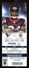 2015 Saints v Texans Ticket NFL 11/29/15 Drew Brees 37401